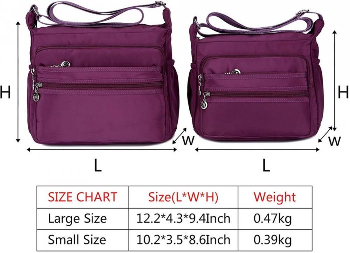 Waterproof-Shoulder-Bag-Nylon-Purse-Handbag-HB083-2