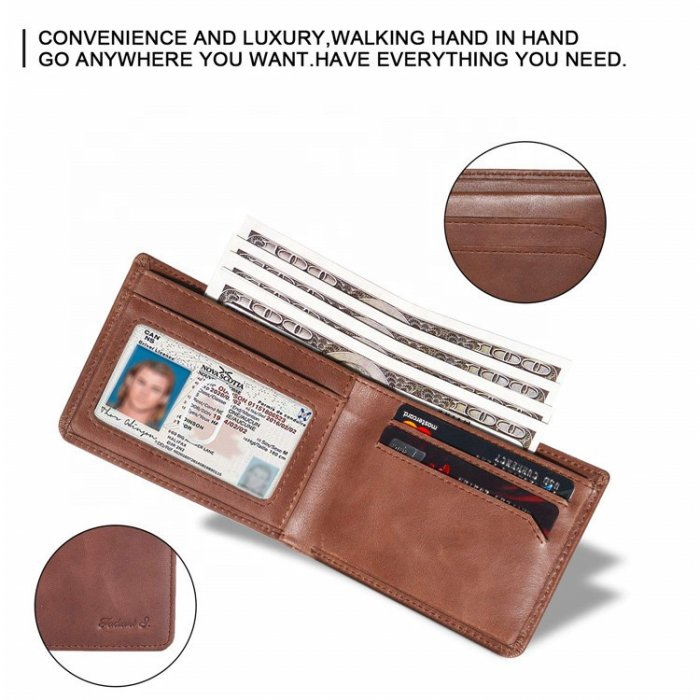Wholesale-Genuine-LeatherBifold-Stylish-Wallet-WL033-4