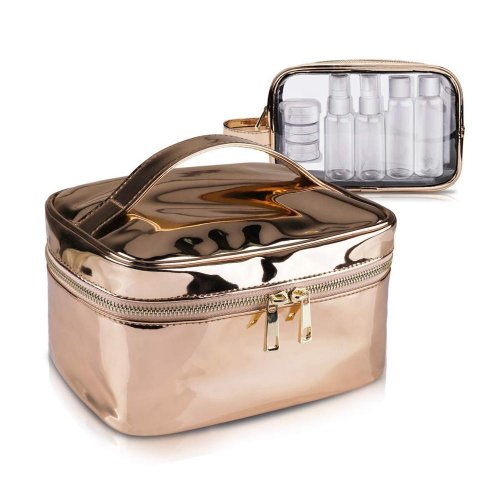 Wholesale-gold-Large-Cosmetic-BagClear-wash-bag-Set-COS103-1