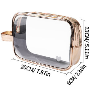 Wholesale-gold-Large-Cosmetic-BagClear-wash-bag-Set-COS103-3