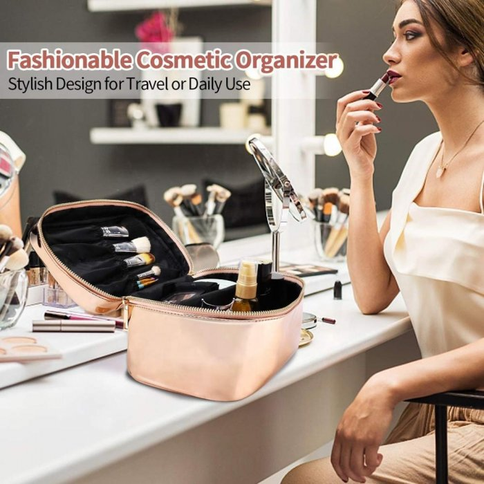 Wholesale-gold-Large-Cosmetic-BagClear-wash-bag-Set-COS103-5