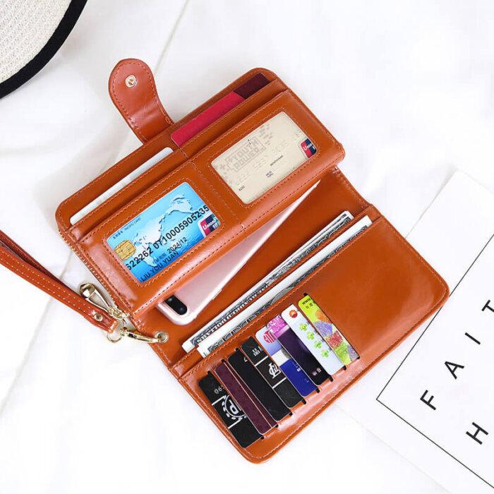 Woman-long-oil-waxed-wallet-wholesale-WOL026-1