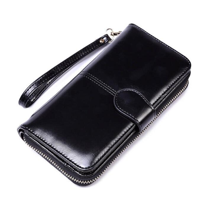 Woman-long-oil-waxed-wallet-wholesale-WOL026-2