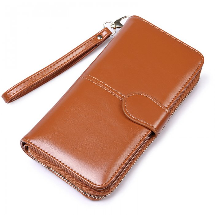 Woman-long-oil-waxed-wallet-wholesale-WOL026-4
