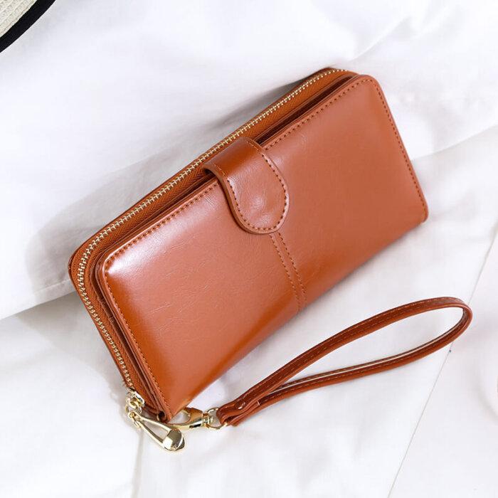Woman-long-oil-waxed-wallet-wholesale-WOL026-5
