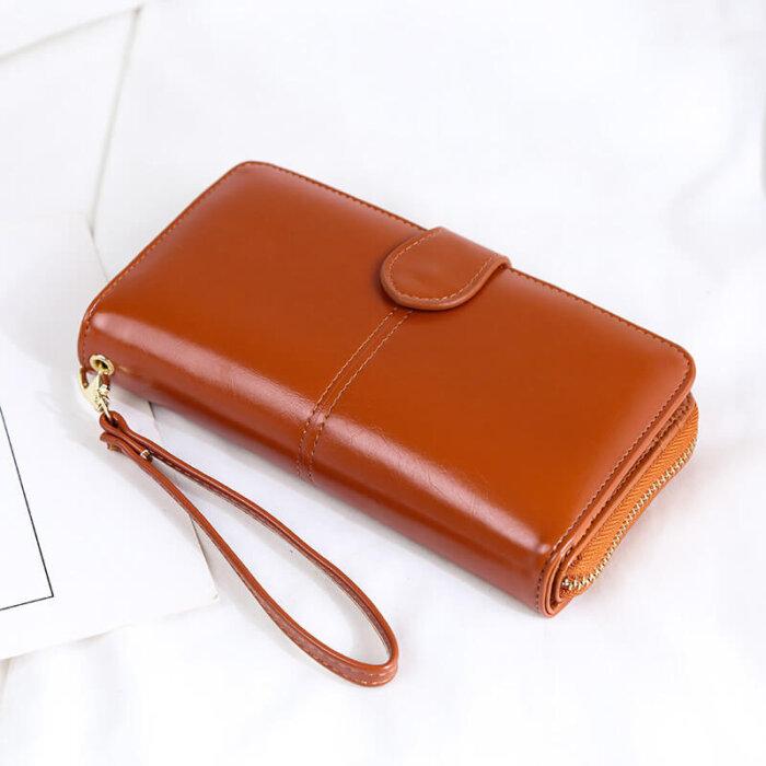Woman-long-oil-waxed-wallet-wholesale-WOL026-6