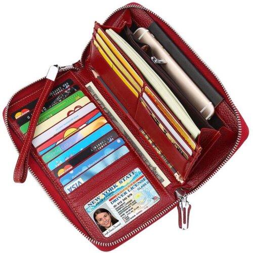 Womens-Clutch-Large-Travel-Purse-Wristlet-Wallet-WOL011-2