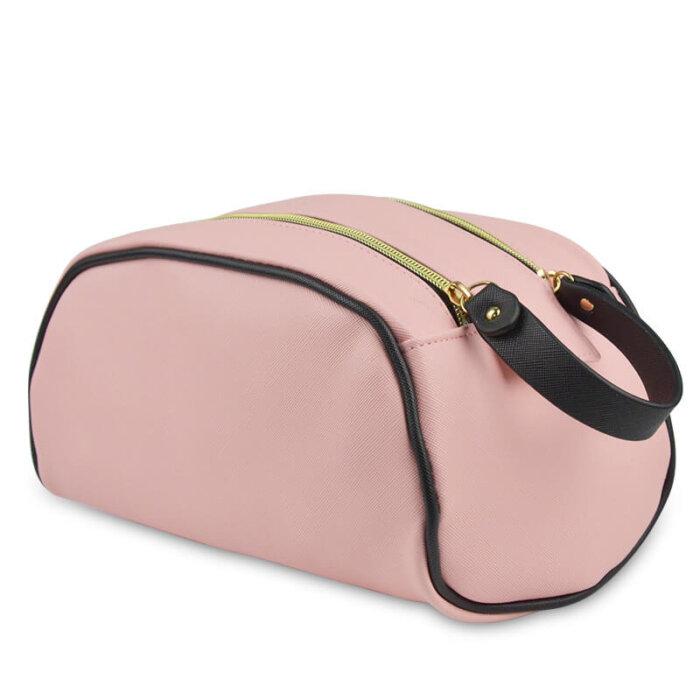 Zipper-PU-Leather-Waterproof-Travel-Cosmetic-Bag-COS009-1