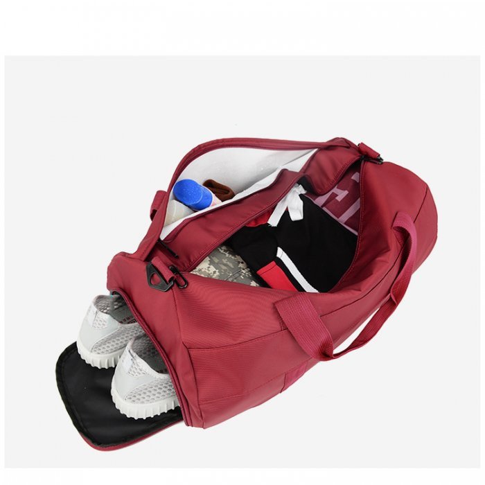 Custom-logo-printed-fitness-sport-duffle-travel-bag-with-shoe-compartment-DB025-3