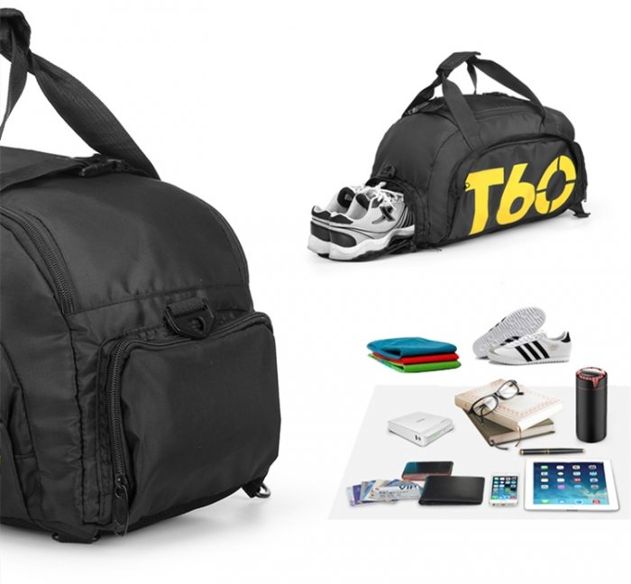 Custom-logo-travel-duffle-bag-with-shoe-compartment-DB026-2
