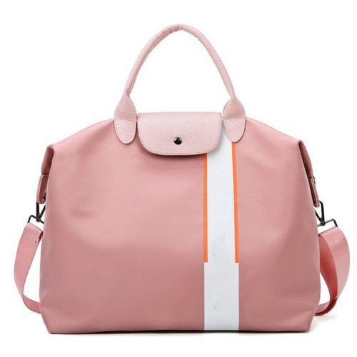 Fashion-portable-multi-functional-pink-women-weekend-travel-tote-bag-DB001-1
