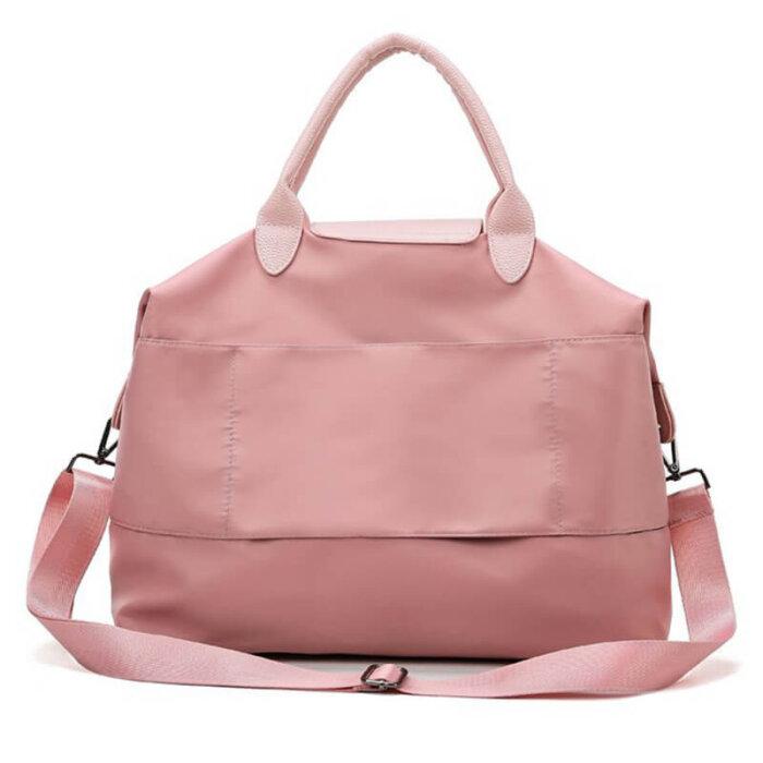Fashion-portable-multi-functional-pink-women-weekend-travel-tote-bag-DB001-2
