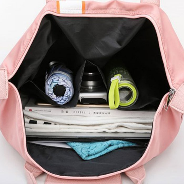 Fashion-portable-multi-functional-pink-women-weekend-travel-tote-bag-DB001-3