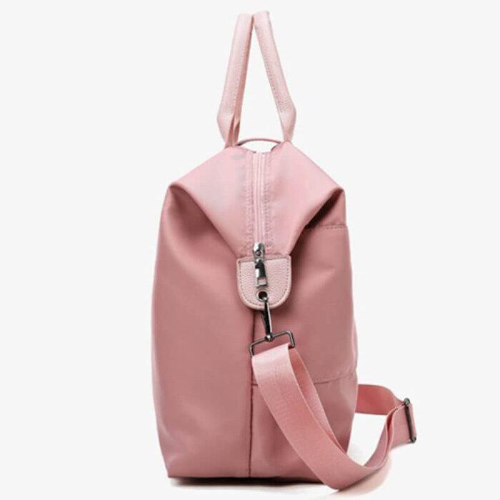 Fashion-portable-multi-functional-pink-women-weekend-travel-tote-bag-DB001-4