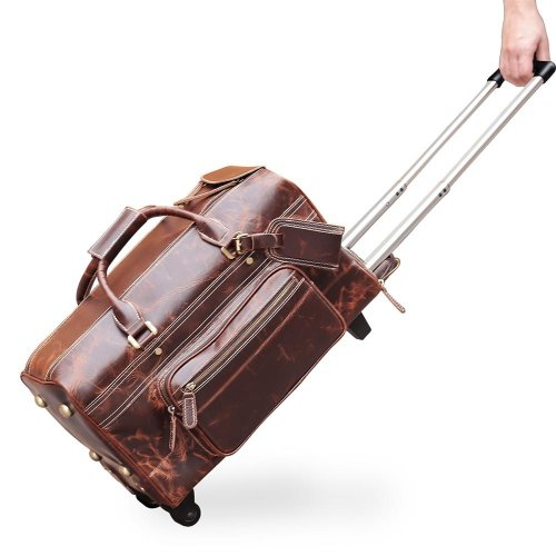 Genuine-Cow-Leather-Travel-Bag-With-Wheels-GDB016-1