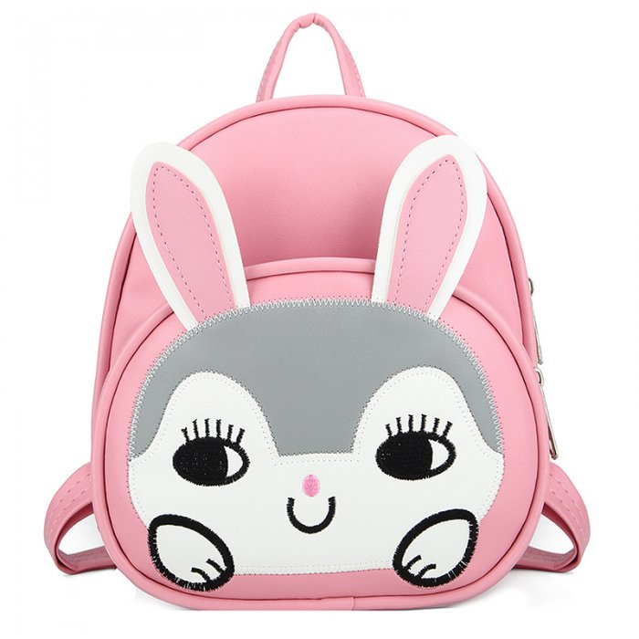Kids-School-Bag-Backpack-PU-Animal-Rabbit-SC003-1