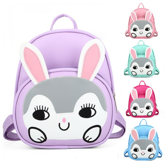 Kids-School-Bag-Backpack-PU-Animal-Rabbit-SC003-3