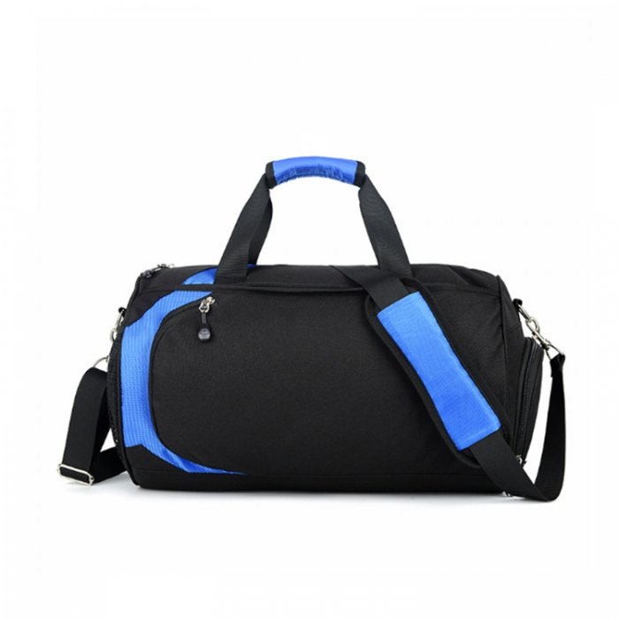 Lightweight-water-resistant-black-polyester-travel-sport-duffle-bags-DB005-1