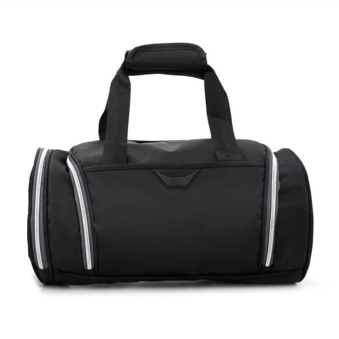 Lightweight-waterproof-weekend-black-fitness-sports-duffel-bag-DB007-1