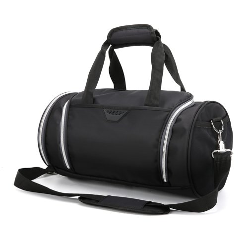 Lightweight-waterproof-weekend-black-fitness-sports-duffel-bag-DB007-2