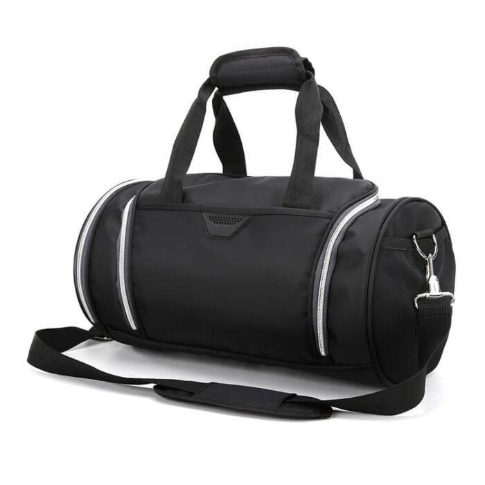 Lightweight-waterproof-weekend-black-fitness-sports-duffel-bag-DB007-2
