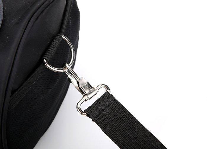 Lightweight-waterproof-weekend-black-fitness-sports-duffel-bag-DB007-3