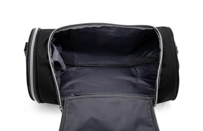 Lightweight-waterproof-weekend-black-fitness-sports-duffel-bag-DB007-4