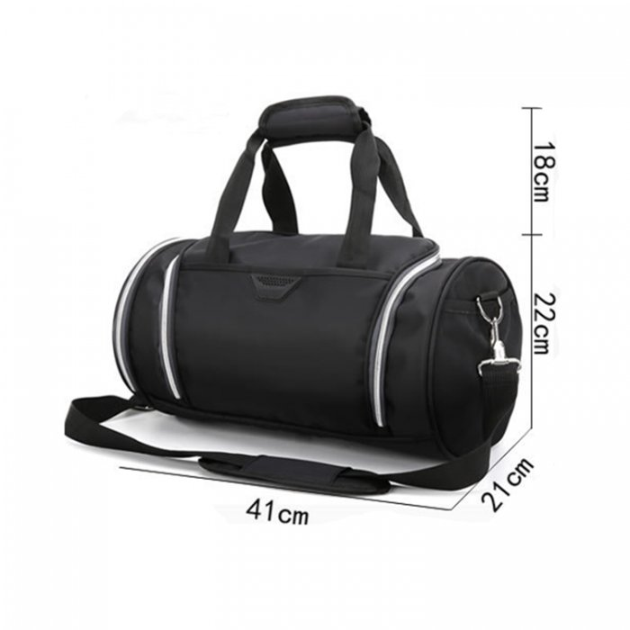 Lightweight-waterproof-weekend-black-fitness-sports-duffel-bag-DB007-6
