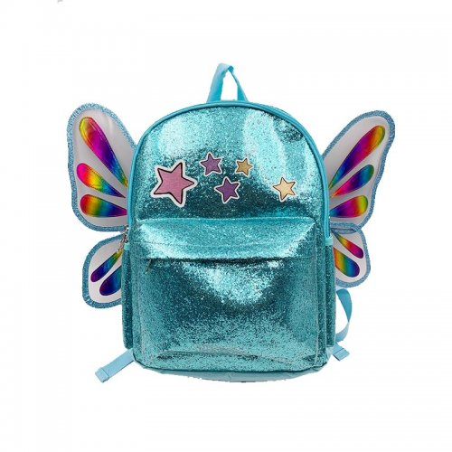 New-fashion-girls-TPU-school-butterfly-backpack-S