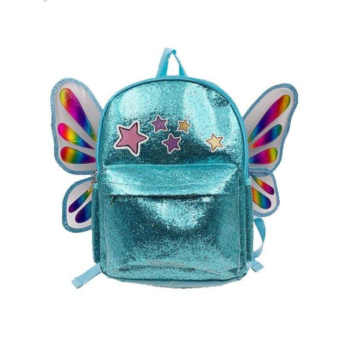 New-fashion-girls-TPU-school-butterfly-backpack-S