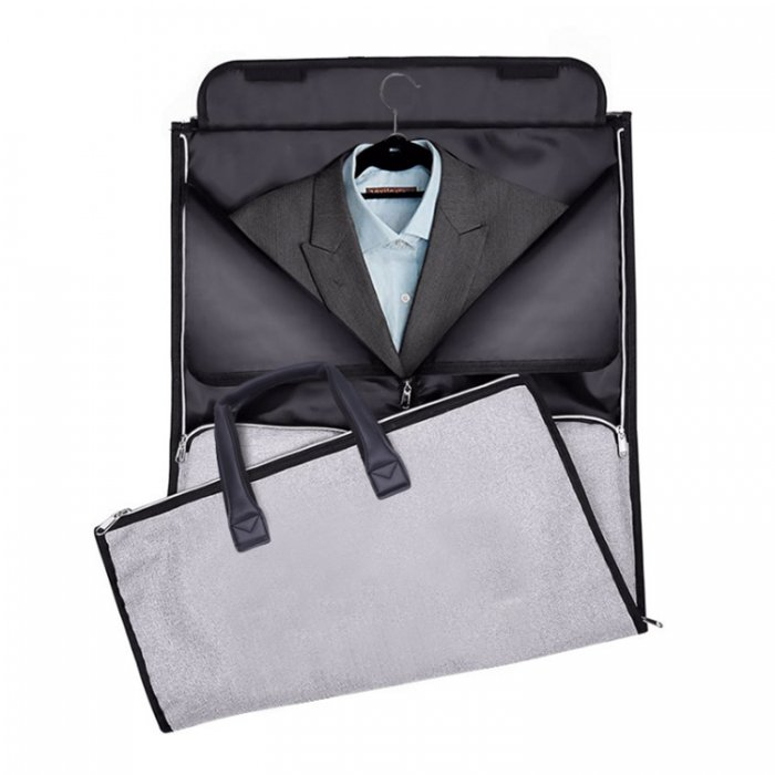 Waterproof-suit-cover-travel-duffel-bags-with-shoe-compartment-DB004-3