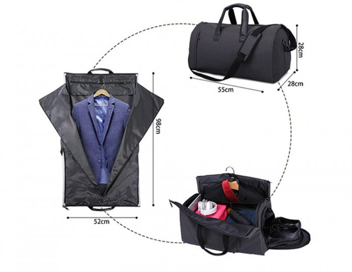 Waterproof-suit-cover-travel-duffel-bags-with-shoe-compartment-DB004-4