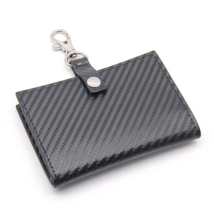 Carbon-Fiber-PU-Leather-ID-Badge-Holder-CRH002-1-1