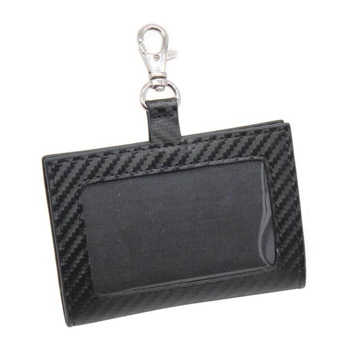 Carbon-Fiber-PU-Leather-ID-Badge-Holder-CRH002-1-5