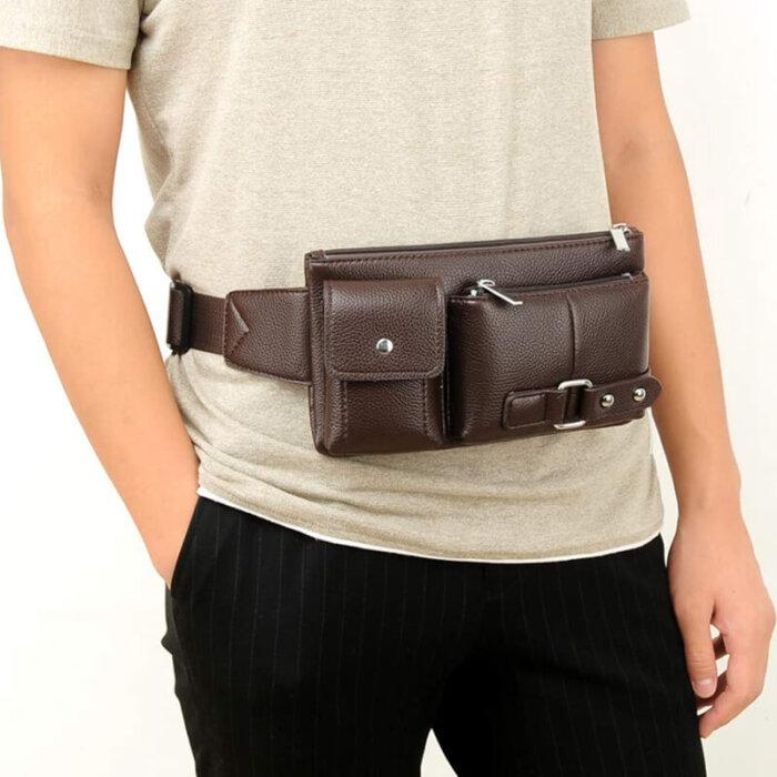 Wholesale-waterproof-pu-leather-waist-bag-PFP004-1