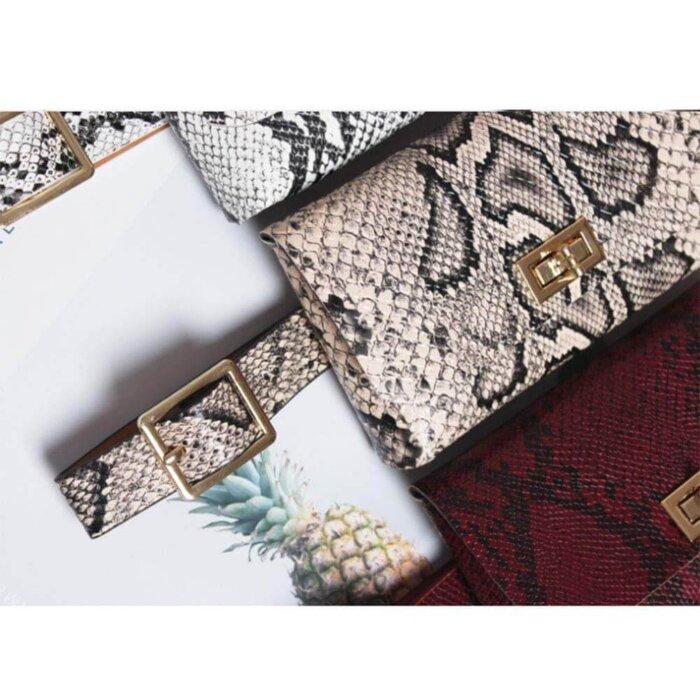 Women-Vintage-Snake-Skin-Waist-Bag-PFP005-3