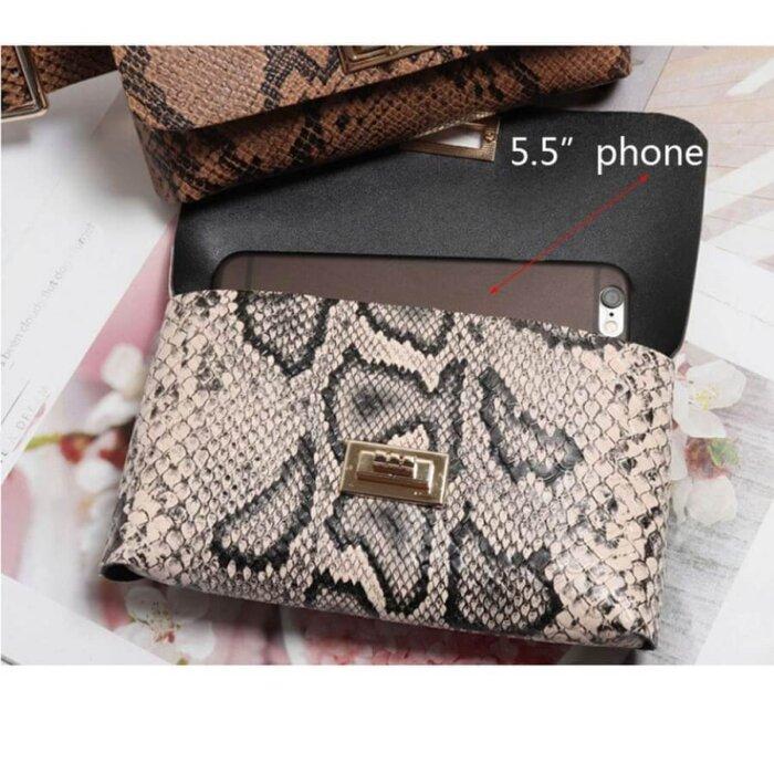 Women-Vintage-Snake-Skin-Waist-Bag-PFP005-4