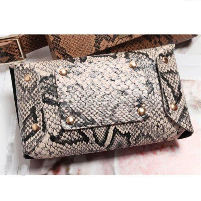 Women-Vintage-Snake-Skin-Waist-Bag-PFP005-5