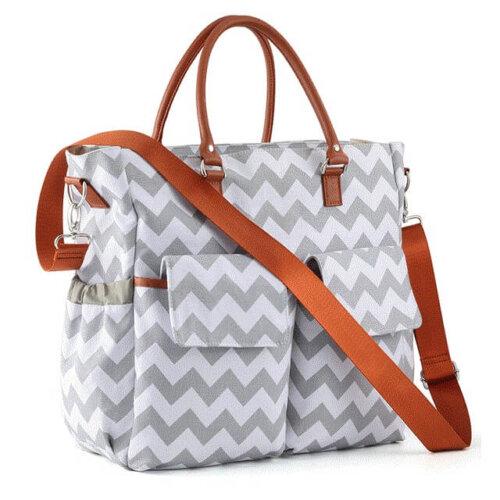 Customized-logo-canvas-mommy-handbag-DP007-2