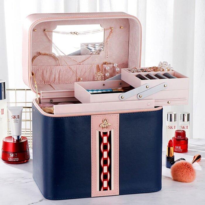 Makeup-Case-Large-Leather-Train-Case-Organizer-CM-3