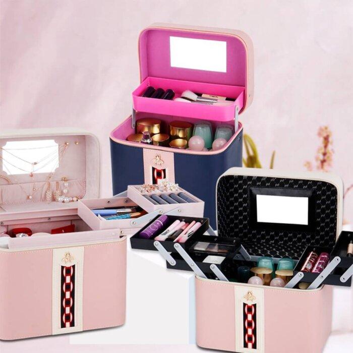 Makeup-Case-Large-Leather-Train-Case-Organizer-CM-4
