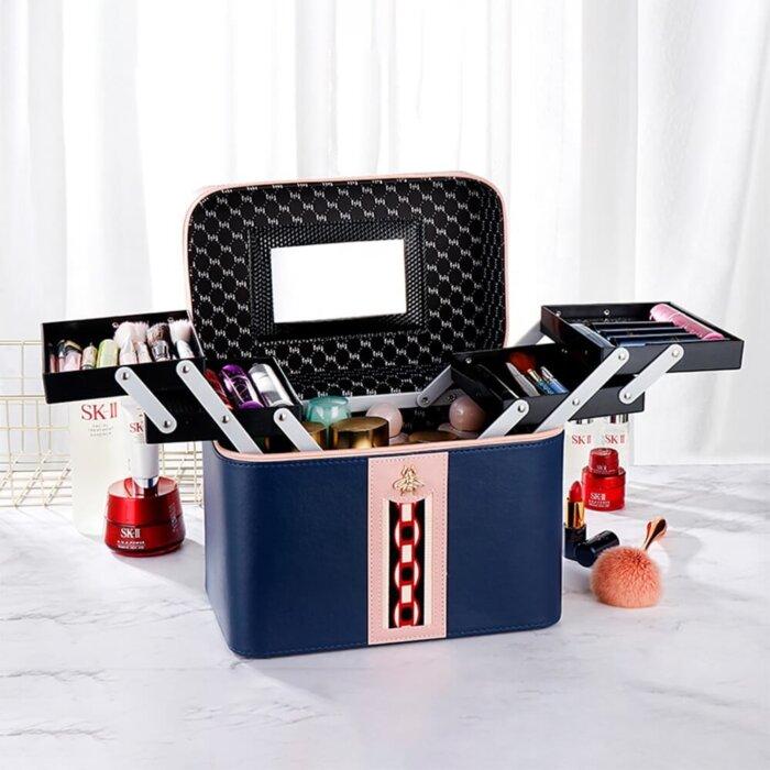 Makeup-Case-Large-Leather-Train-Case-Organizer-CM-6